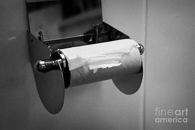 Last Remaining Sheet Of Toilet Paper On A Toilet Roll Holder Art Print by Joe Fox