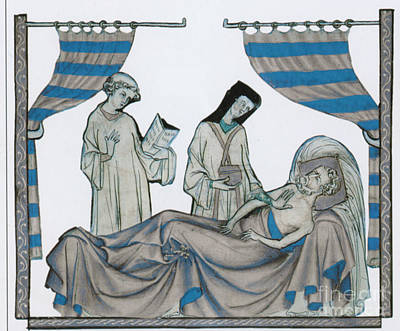 Confessions Photograph - Last Rites, Middle Ages by Science Source