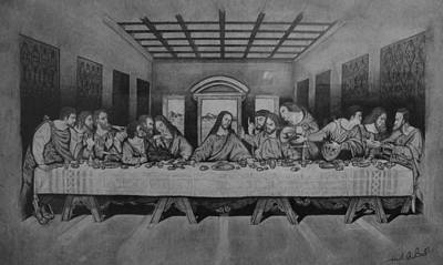 Miguel Rodriguez Mixed Media - Last Supper by Miguel Rodriguez