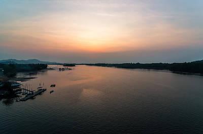 Borat Photograph - Lastlight At Mengkabong River by Kenneth Lee