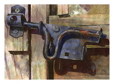 Old Latch Painting - Latched by Andrew King