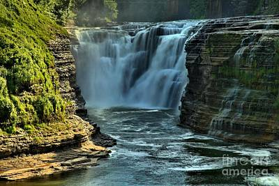 Photograph - Latchworth Upper Falls by Adam Jewell