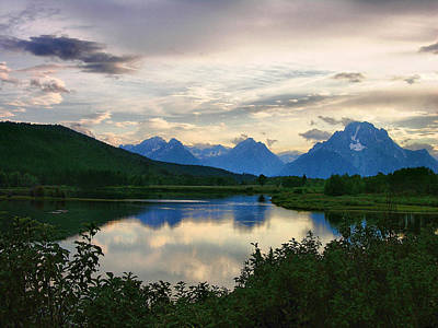 Late Afternoon In The Tetons Print by Steven Ainsworth