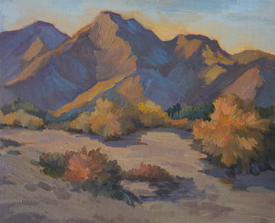 Mountain Valley Painting - Late Afternoon Light In La Quinta Cove by Diane McClary