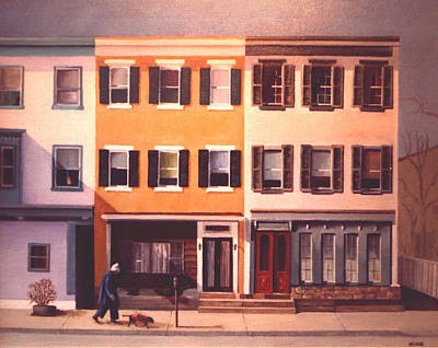 Painting - Late Afternoon On Church Street by Robert Henne