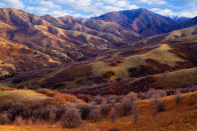 Photograph - Late Autumn In The Wasatch Foothills by Utah Images