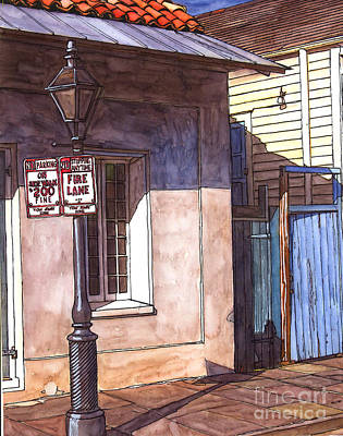 Jackson Square Painting - Late Evening Shadow by John Boles
