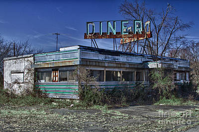 Empty Photograph - Late For Dinner. Abandoned Empty Diner. by Robert Wirth