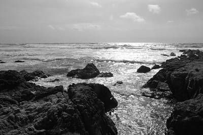Photograph - Late Light Ocean Bw by Kathleen Grace