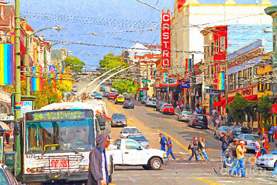 Castro District Digital Art - Late Morning Early Autumn In The Castro In San Francisco by Wingsdomain Art and Photography