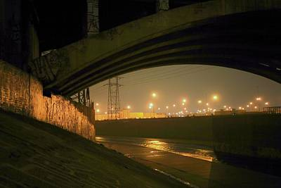 Photograph - Late Night Under 1st Street Bridge by Kevin  Break