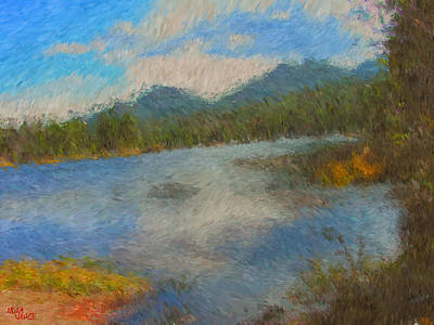 Estes Park Painting - Late October by Adam Vance