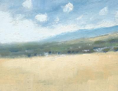 Late Summer Cornfields Art Print by Alan Daysh