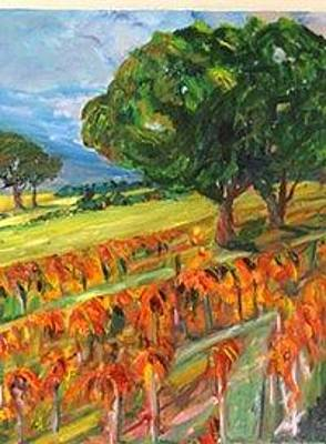 Painting - Late Vineyard by Carolyn Zaroff