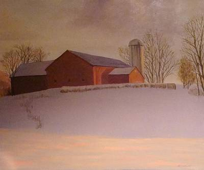 Painting - Late Winter At The Lufkin Farm by Mark Haley