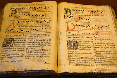 Photograph - Latin Hymnal 1700 Ad by Bob Christopher