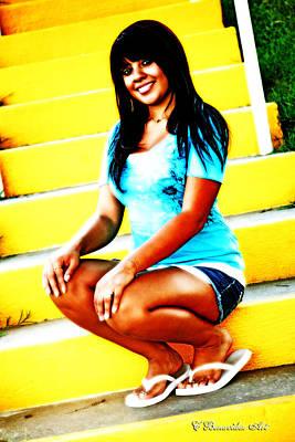 Photograph - Latina Bonita by Charles Benavidez