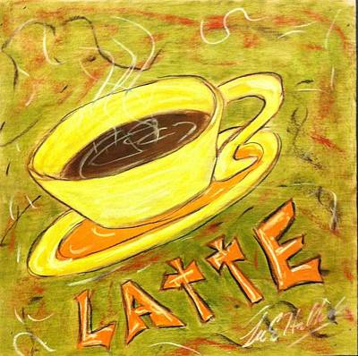 Latte Art Print by Lee Halbrook