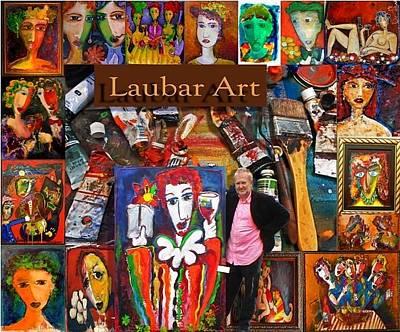 Stellenbosch Artist Painting - Laubar Postcard by Laurens  Barnard