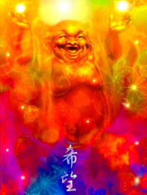 Laughing Buddha Art Print by Konaa W