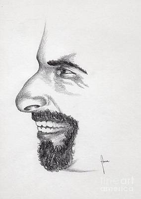 Drawing - Laughter by Annemeet Hasidi- van der Leij