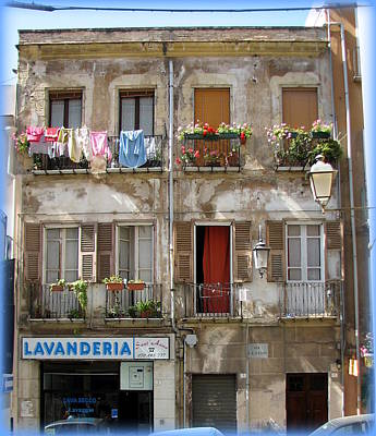 Aged Photograph - Laundry And Lavanderia by Carla Parris