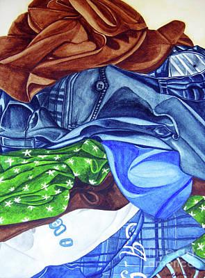 Painting - Laundry No4 by Mic DBernardo