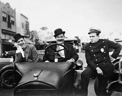 Laurel And Hardy, 1928 Art Print by Granger