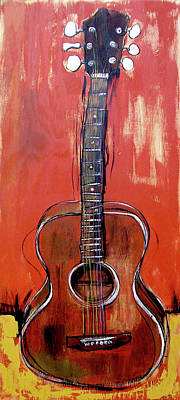 Wall Art - Painting - Laurelyn's Guitar by John Gibbs