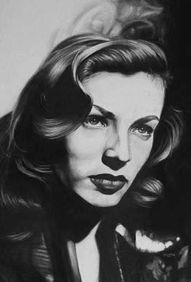 Lauren Bacall Art Print by Steve Hunter