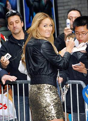 At Talk Show Appearance Photograph - Lauren Conrad Wearing Kate Moss by Everett