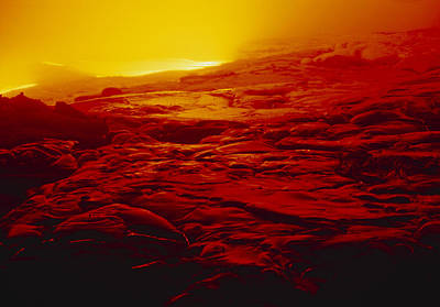 Lava Flow From Kilauea Volcano Art Print by G. Brad Lewis
