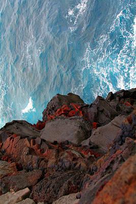 Lava Rocks And Ocean Water Art Print by Jennifer Bright