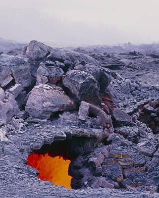 Lava Tube, Kilauea Volcano, Hawaii Art Print by G. Brad Lewis