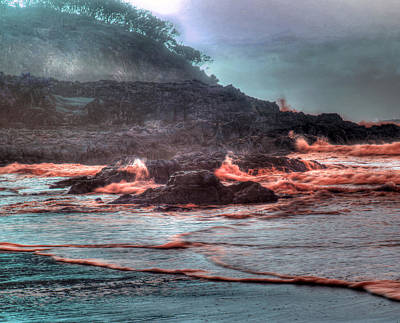 Photograph - Lava Waves by James Mcinnes