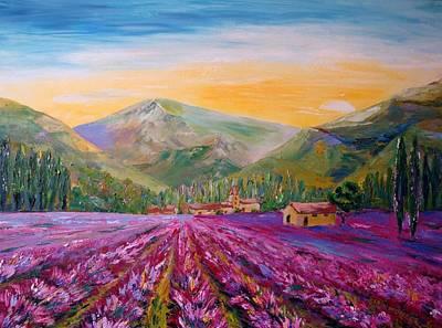 Karin Mueller Painting - Lavendelbluete by Karin Mueller