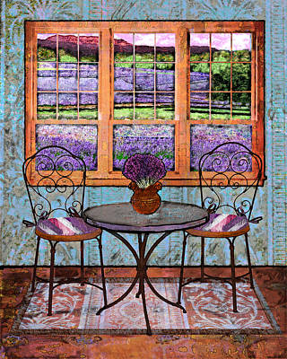 Lavender Bistro Art Print by Mary Ogle