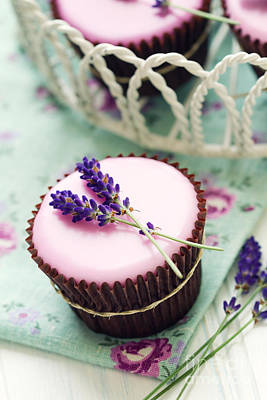 Lavender Cupcakes Art Print by Ruth Black