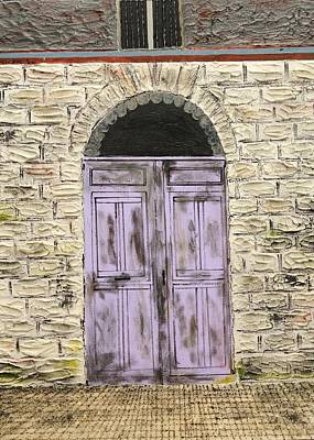 Lavender Door-france Art Print