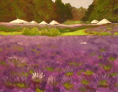 Lavender Festival Art Print by Mary McInnis