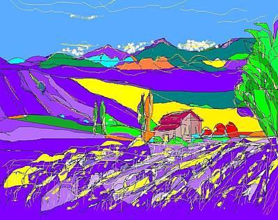 Lavender Fields Art Print by Alberto Lacoius-Petruccelli