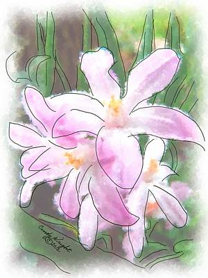 Photograph - Lavender Lily Painting by Cindy Wright