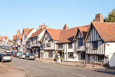 Winter Roads Photograph - Lavenham High Street by Tom Gowanlock