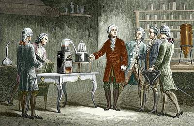 Lavoisier's Experiment On Air, 1776 Art Print by Sheila Terry