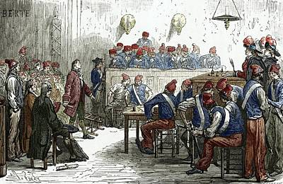 Lavoisier's Trial, 1794 Print by Sheila Terry