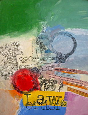 Law And Order Art Print by Cliff Spohn