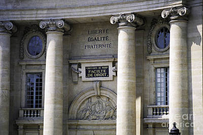 Photograph - Law Faculty Paris by Donna Munro