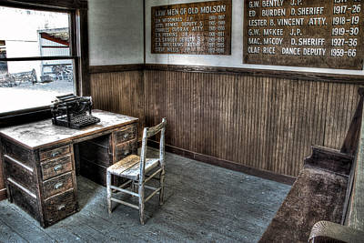 Law Man's Office - Molson Ghost Town Art Print by Daniel Hagerman