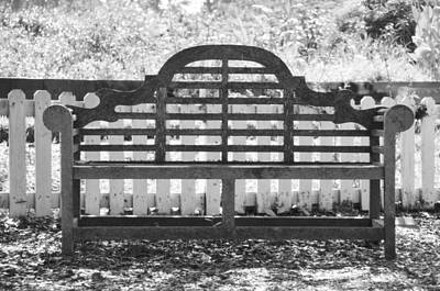 Photograph - Lawn Seat by JAMART Photography