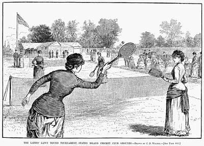 Lawn Tennis, 1883 Art Print by Granger
